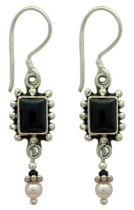 Bead Wire Dangles Earrings