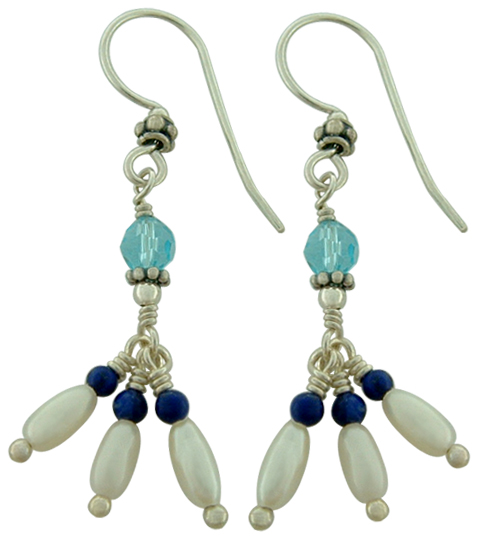 Stone Beaded Earrings